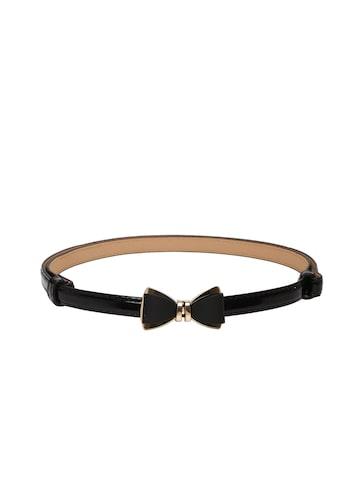 DressBerry Women Black Bow Detail Belt at myntra