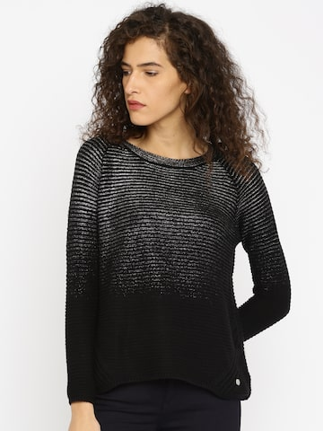 ONLY Black Shimmery Sweater at myntra