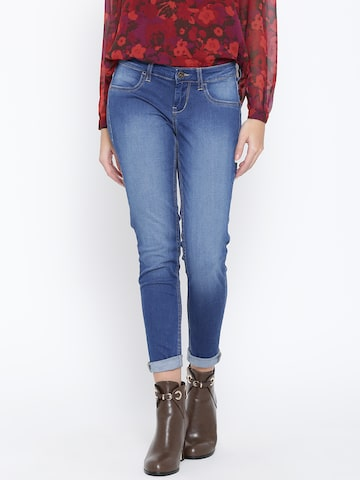 Flying Machine Blue Jeggings at myntra