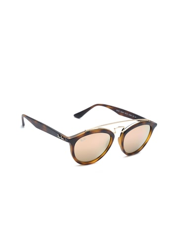 Ray-Ban Women Mirrored Oval Sunglasses 0RB425760922Y53 at myntra