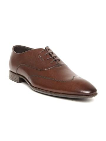 Lee Cooper Men Brown Genuine Leather Formal Shoes at myntra