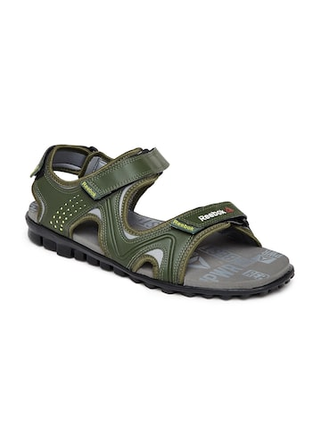 Reebok Men Olive Green Reeflex Sports Sandals at myntra