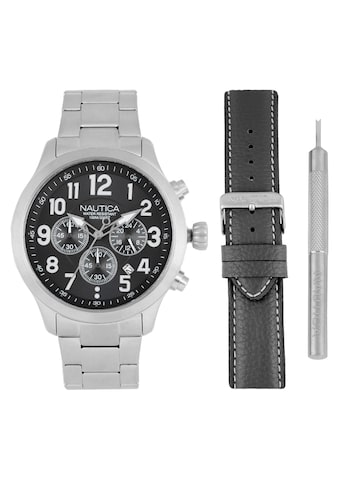 Nautica Men Black Analogue Watch with Changeable Straps NAI18508G Nautica Watches at myntra
