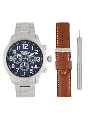 Nautica Men Blue Analogue Watch with Changeable Straps NAI18509G Nautica Watches at myntra