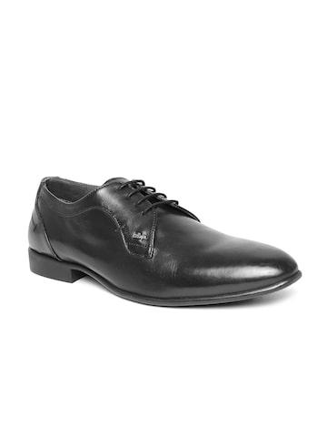 Lee Cooper Men Black Genuine Leather Formal Shoes at myntra