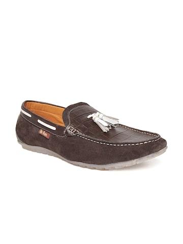 Lee Cooper Men Brown Genuine Leather Tassel Loafers at myntra