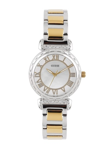 GUESS Women Cream-Coloured Dial Watch W0831L3 at myntra