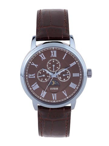 GUESS Men Brown Multifunction Dial Watch W0870G3 at myntra