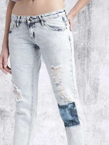 RDSTR Blue Slim Fit Mid-Rise Cropped Jeans at myntra