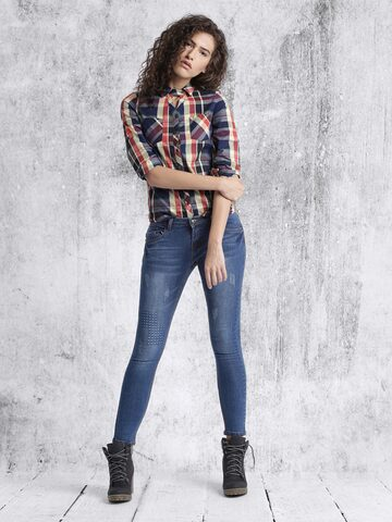 RDSTR Women Blue Slim Fit Mid-Rise Cropped Jeans at myntra