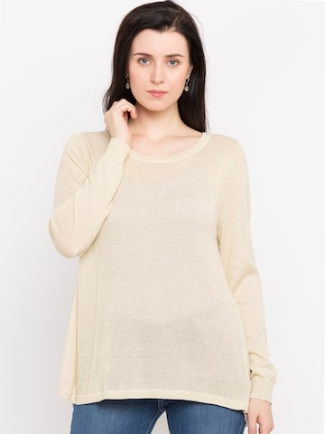 Jealous 21 Women Beige Solid Styled Back Top Jealous 21 Tops at myntra