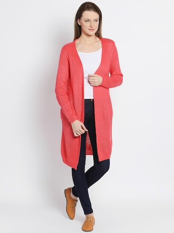 Jealous 21 Coral Red Shrug at myntra