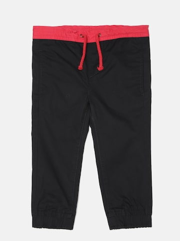 United Colors of Benetton Boys Black Solid Joggers at myntra