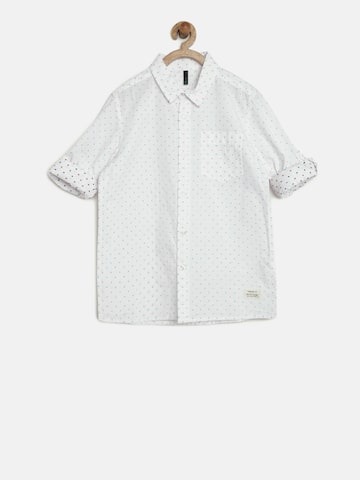 United Colors of Benetton Boys White Patterned Shirt at myntra