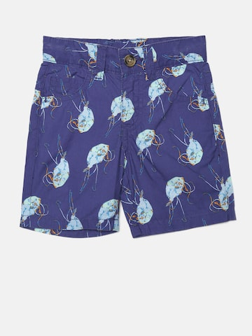 United Colors of Benetton Boys Blue Printed Shorts at myntra
