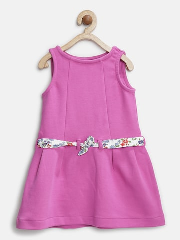 United Colors of Benetton Girls Purple Solid A-Line Dress at myntra