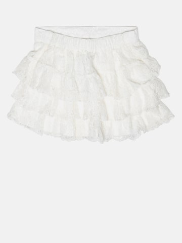 United Colors of Benetton Girls Off-White Tiered Lace Skirt at myntra
