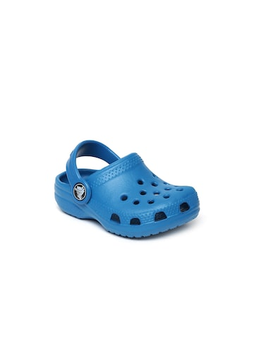 Crocs Kids Blue Classic Clogs at myntra