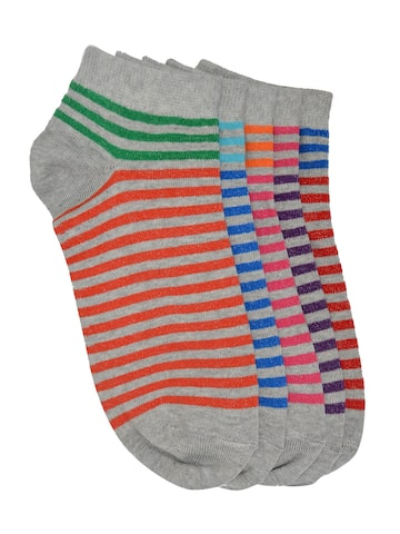 MARC Women Set of 5 Above Ankle-Length Socks at myntra