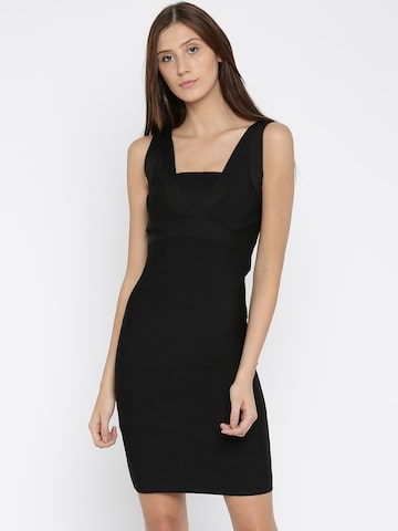 ONLY Women Black Solid Bodycon Dress at myntra