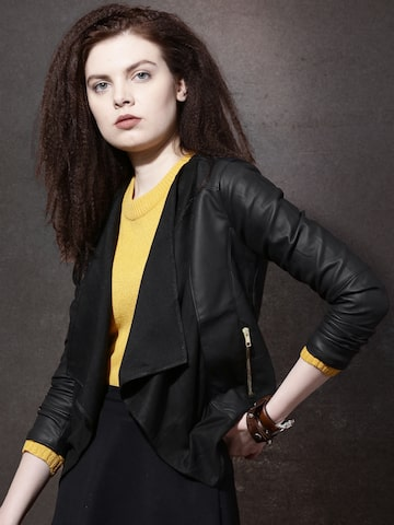 Roadster Black Front-Open Shrug at myntra