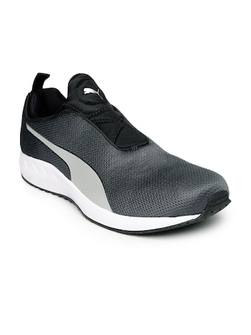 Puma Men Charcoal Running Shoes Puma Sports Shoes at myntra
