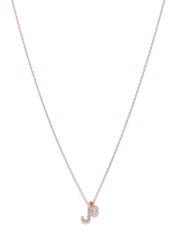 Accessorize Rose Gold-Plated Set of 2 Pendants with Chain at myntra