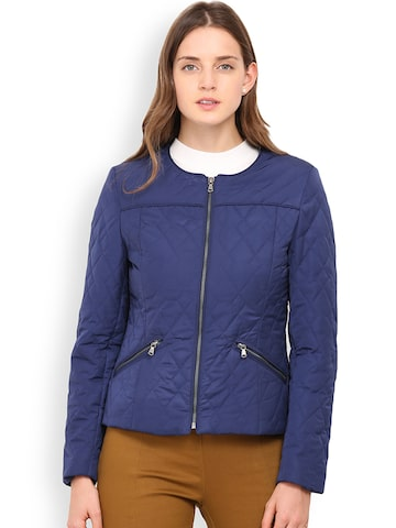 Gipsy Navy Quilted Jacket at myntra