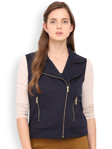 Gipsy Navy Sleeveless Jacket at myntra