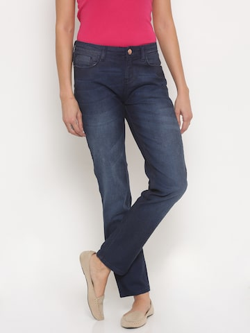 Jealous 21 Women Blue Hottie Ultra Slim Fit Mid-Rise Stretchable Jeans at myntra