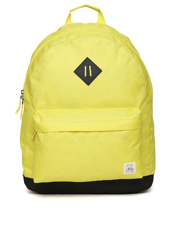 United Colors of Benetton Men Yellow Laptop Backpack at myntra