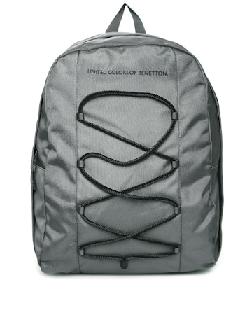 United Colors of Benetton Men Grey Laptop Backpack at myntra