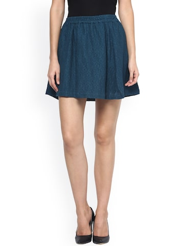 Sbuys Navy Flared Lace Skirt at myntra