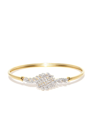 Zaveri Pearls Gold-Plated CZ Stone-Studded Bracelet at myntra