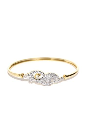 Zaveri Pearls Gold-Plated CZ Stone-Studded Bracelet at myntra