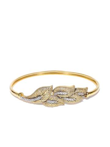 Zaveri Pearls Antique Gold-Plated CZ Stone-Studded Bracelet at myntra