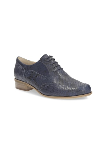Clarks Women Navy Blue Solid Regular Brogues Clarks Casual Shoes at myntra