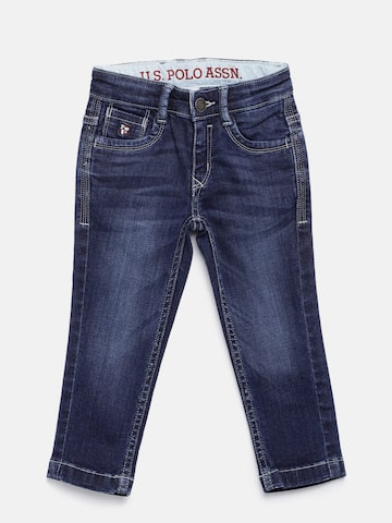 U.S. Polo Assn. Kids Boys Blue Slim Fit Jeans at myntra