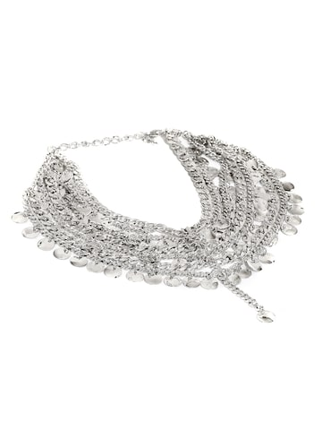 Anouk Silver-Toned Multistranded Anklet at myntra