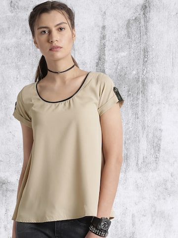 Roadster Beige Solid Top at myntra