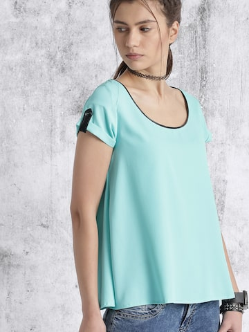 Roadster Blue Solid Top at myntra