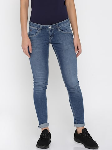 U.S. Polo Assn. Women Blue Jeggings at myntra
