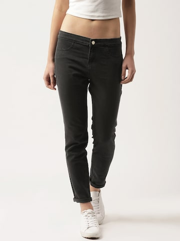 DressBerry Black Jeggings at myntra