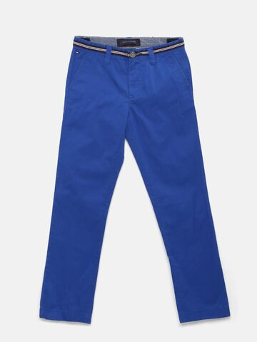 Tommy Hilfiger Boys Blue Chino Trousers at myntra