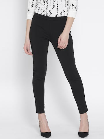 United Colors of Benetton Black Treggings at myntra