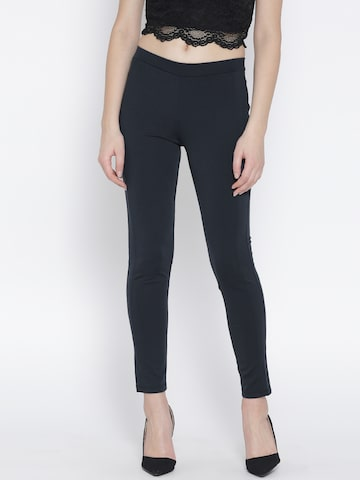 United Colors of Benetton Navy Treggings at myntra