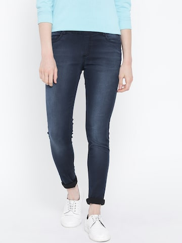 United Colors of Benetton Navy Jeggings at myntra