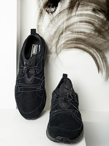 Puma Men Black Blaze of Glory SOFT Leather Sneakers at myntra