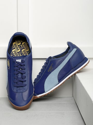 Puma Men Blue Roma OG 80s Sneakers at myntra