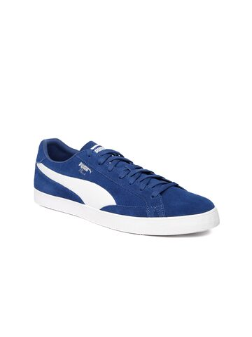 Puma Men Blue Match Vulc 2 Suede Sneakers at myntra